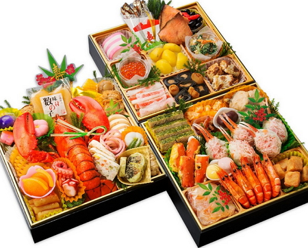 人気のおせち「小樽きたいち 海鮮おせち 秀峰 特大8寸三段重 全52品」