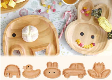 子供用木の食器