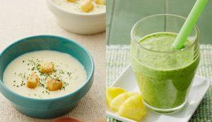 スムージーと冷製スープ