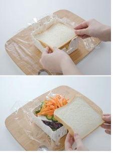 サンドイッチをカット