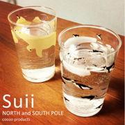 Suii タンブラー飲み物を注ぐと北極シロクマと南極ペンギン